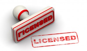 Licensed. Seal and imprint